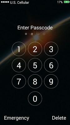 Galaxy Space Lock Screen-2