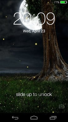Fireflies Lockscreen Live Wallpaper
