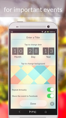 My Day – free event countdown timer app! When you can't wait!