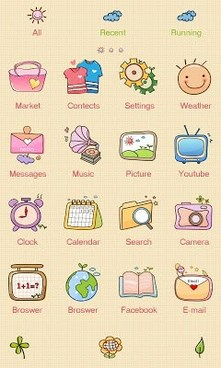 With GO Launcher Theme-2