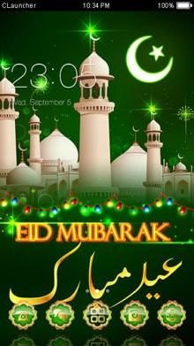 Eid Mubarak Clauncher Theme