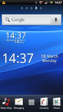 Simple Digital Clock Widget Free-1