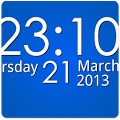 Simple Digital Clock Widget Free