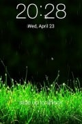 Galaxy Rainy Lock Screen LWP