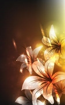 Glowing Flowers Live Wallpaper