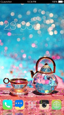 Glass CLauncher Theme-1