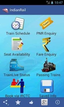 Indian Rail Train & IRCTC Info-2