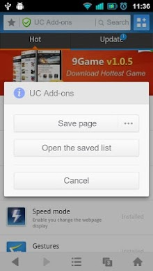 Save Page – UC Browser Addon