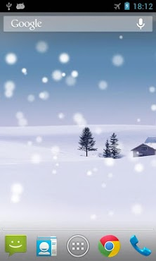 snow live wallpaper simulates snowfall on your screen great for
