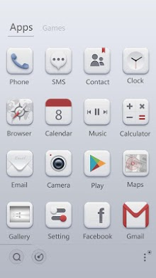 Pale GO Launcher Theme-2