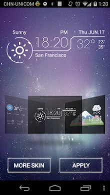 Amber Weather Widget-2