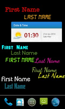 My name live wallpaper-2