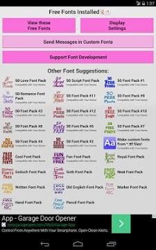 Fonts for FlipFont 50 -6-1