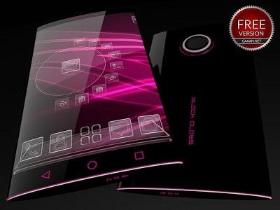 Black Glass Free Next Launcher Theme-1