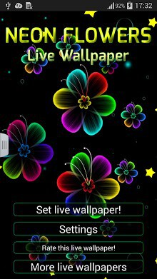 Neon Flowers Live Wallpaper-2