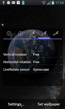 Earth & Moon in HD Gyro 3D APK Download for Android