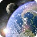 Earth & Moon in HD Gyro 3D