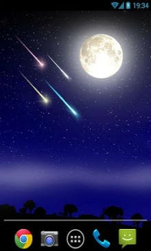 Meteor shower Live Wallpaper-1