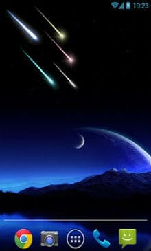 Meteor shower Live Wallpaper-2