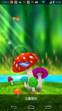 Mushrooms 3D Live Wallpaper-2