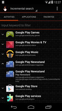 how to create app shortcuts on android tablet