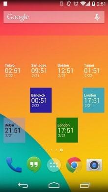 Simple World Clock Widget-1