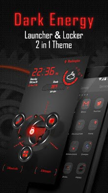 Dark Energy 3D Next Launcher Theme 2in1-1