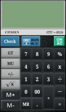 CITIZEN CALCULATOR-2
