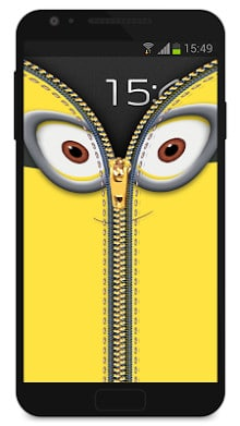 Zipper Lock Screen Yellow-2