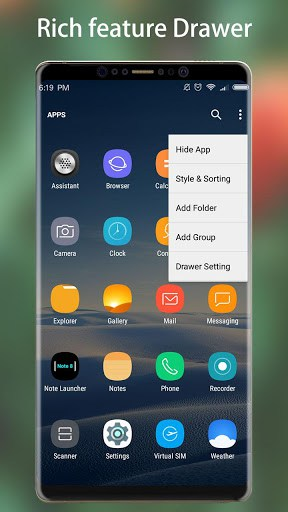 Note 8 launcher galaxy note8 launcher theme apk for Wallpaper home launcher