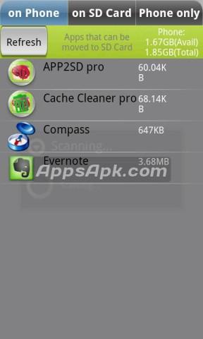 Screenshots for AppMgr III (App 2 SD)