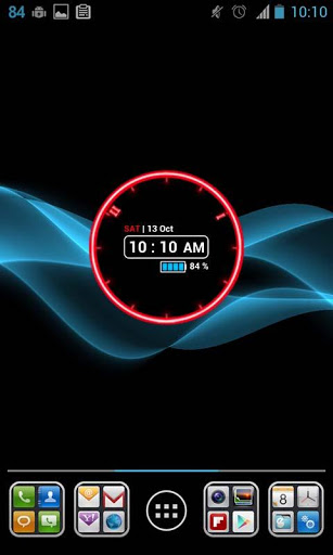 Glowing Neon Clock Widget | APK Download For Android