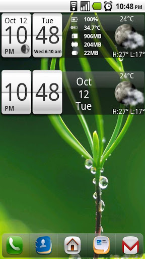 Sense Analog Small Clock 4x1 | APK Download For Android
