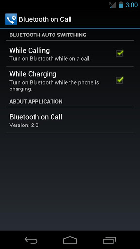 Bluetooth on Call