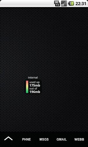 Internal Phone Storage Widget