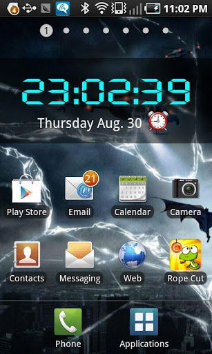 LED Digital Clock Widget