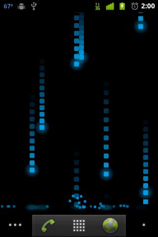 Pixel Rain Live Wallpaper