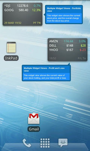 Ministocks - Stocks Widget