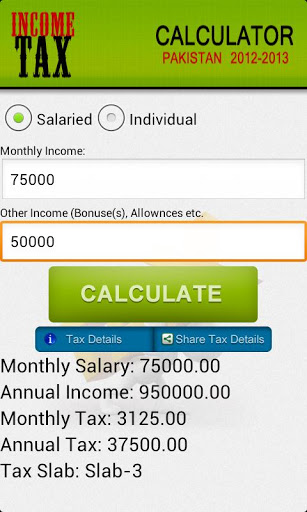 Pakistan Income Tax Calculator-2