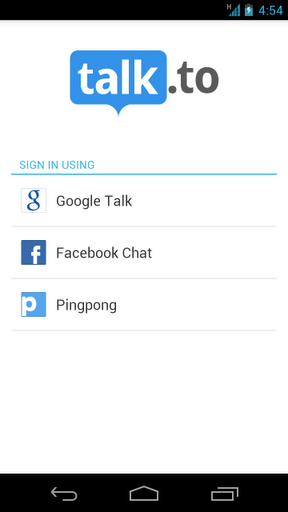 Talk to - Chat for GTalk & FB | APK Download For Android