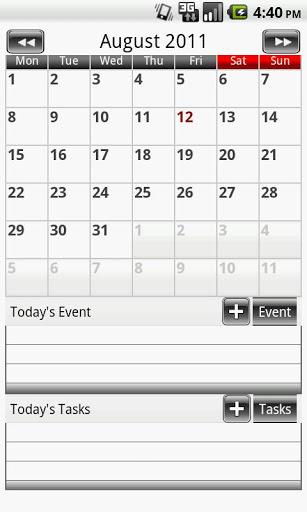 Calendar One - Simple Cal