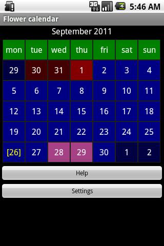 Flower calendar (free)-2
