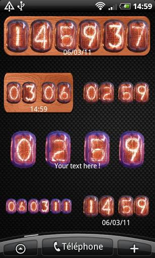 Nixie Clock Widget