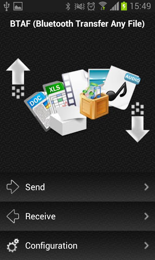 how to send files to android via bluetooth