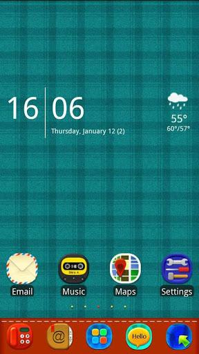 Plaid Complex GoLauncher Theme-1