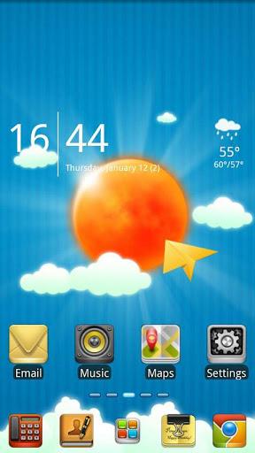 Sun And Sky GO launcher theme-1