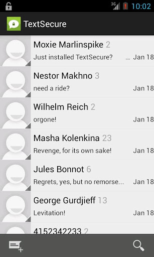 TextSecure - Private SMSMMS-1
