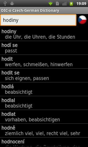Czech-German offline dict-1