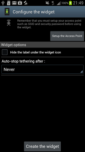 Wifi Tethering Widget APK for android | APK Download For ...