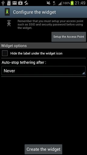 Wifi Tethering Widget-2